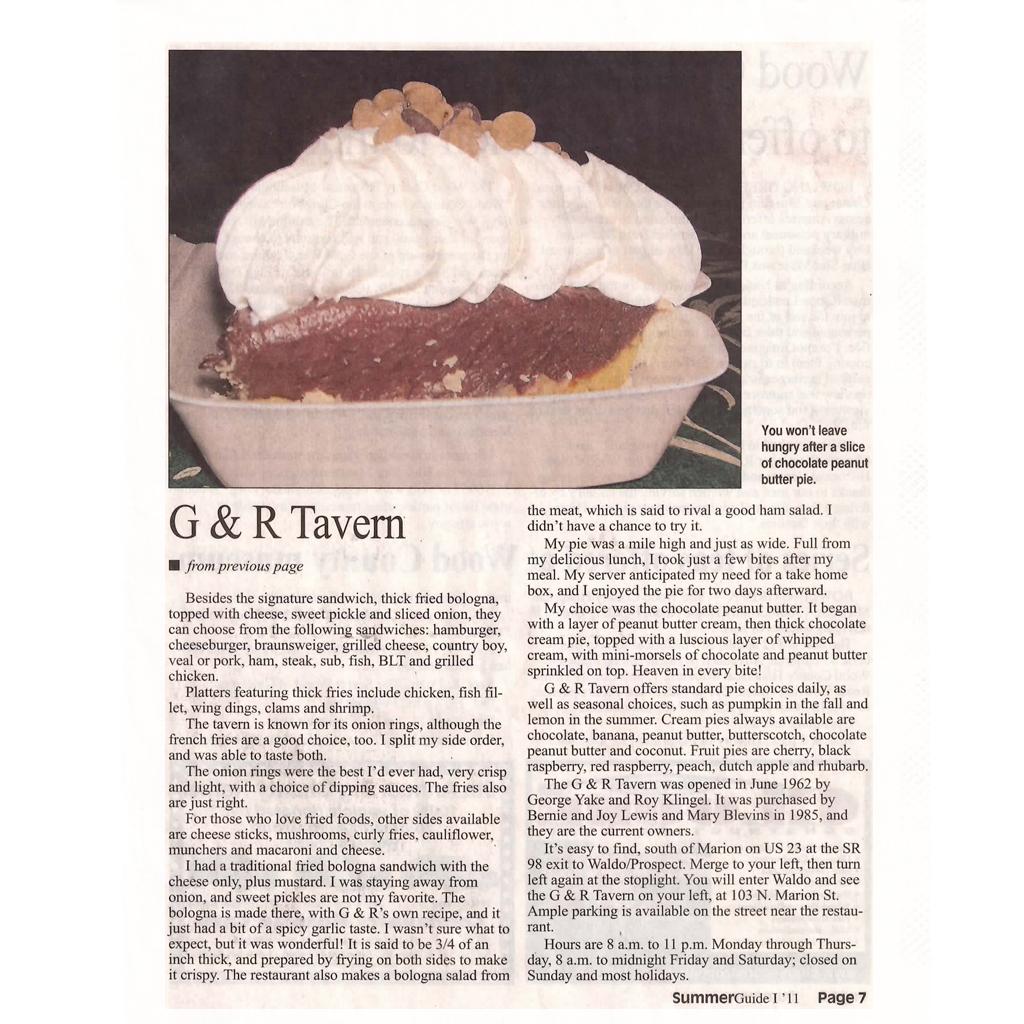 g&r tavern news