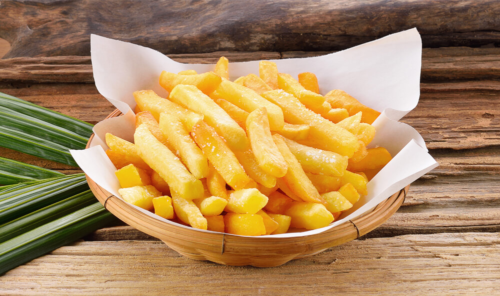 basket with fries